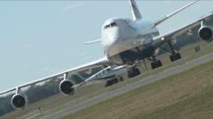 747 vs. Beechcraft Stock Footage