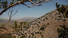 Lasithi Plateau, Crete, Greece Stock Footage