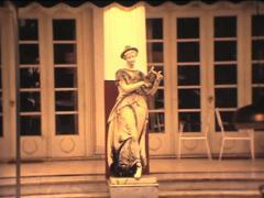 SUPER8 GREECE Corfu statues at Achillion Palace museum - 1978 Stock Footage