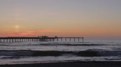 Sunset in Ocean Beach - stock footage