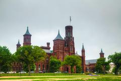 smithsonian institution building (the castle) in washington, dc - stock photo
