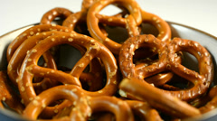 Salty pretzels Stock Footage