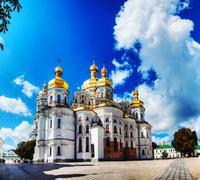 kiev pechersk lavra monastery in kiev, ukraine - stock photo