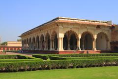the agra fort - stock photo