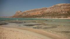 Balos Beach, Crete, Greece Stock Footage