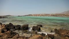 Beach (Elafonisi, Crete, Greece) Stock Footage