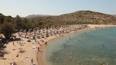 Beach of Vai (Crete, greece) Stock Footage