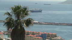 The View To The Bay Of Gibraltar (2) Stock Footage