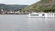 Stock Video Footage of Rhine River Cruise