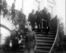 1927 - White House 02 - Meeting Persident Coolidge & Machado Stock Footage
