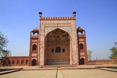 the tomb of akbar the great - stock photo