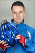 Confident cyclist 3 Stock Photos