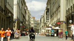 Pedestrian shopping street (2) - Rennes France Stock Footage