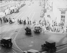 1928 - First Traffic Lights USA 01 Stock Footage