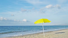 yellow parasol.mp4 - stock footage