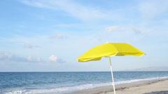yellow umbrella.mp4 - stock footage