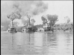 1928 - Sacramento - Side Wheeler Steamboats 02 Stock Footage