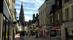 Rue du Change - Vendome France (2) Stock Footage