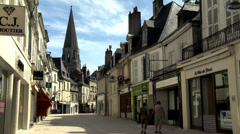 Rue du Change - Vendome France (1) Stock Footage