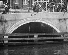 1928 - Tunnel Segment Transport 03 Stock Footage