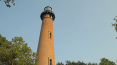 Currituck Lighthouse - North Carolina - 1875 - OBX Stock Footage