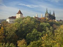 Prague castle in autumn Stock Photos