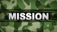 MISSION in Military Door (2 Versions) Stock Footage