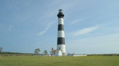 1872 Bodie Island Lighthouse - Outer Banks, NC Stock Footage