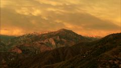 Kings canyon sunset time lapse Stock Footage