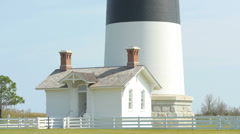 1872 Currituck Lighthouse on Bodie Island, Outer Banks, NC Stock Footage