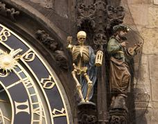 Prague's astronomical clock Stock Photos