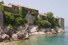Resort hotel on adriatic sea Stock Photos