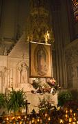 guadalupe shrine st. patrick's cathedral new york city - stock photo