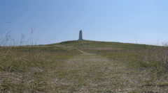 Wright Brothers Memorial on top of hill - Kill Devil Hills Stock Footage