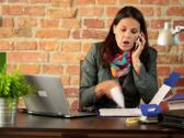 Stock Video Footage of Businesswoman giving reprimand to someone over the phone NTSC