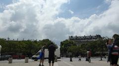 PLACE CHARLES DE GAULLE, ARC DE TRIOMPHE, PARIS, FRANCE (PARIS Arc de Triomphe4) Stock Footage