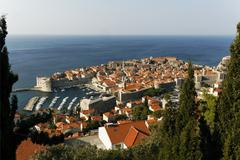 morning over dubrovnik, one of the most popular tourist destinations on the a - stock photo