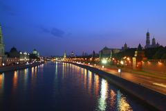 the moscow kremlin - stock photo