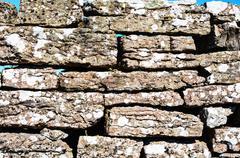 Old stonewall detail Stock Photos