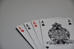 Cards - aces Stock Photos