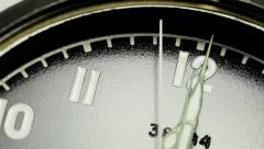 Military stopwatch clock face close up. - stock footage