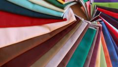 Scarves for color selection, personal consultation of imagemaker - stock footage