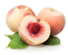 Three peaches Stock Photos