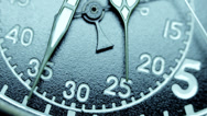 Stock Video Footage of Military stopwatch clock face close up.