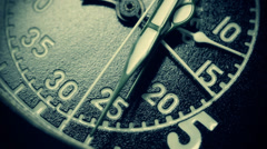 Military stopwatch close up Stock Footage