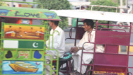 Stock Video Footage of Motorbike Rickshaws/ Public Transport in South Asia