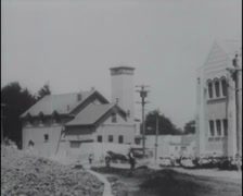 1910 - Opening Junipero School 02 Stock Footage