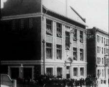 1912 - Fire Drill At Presidio School San Francisco 02 Stock Footage