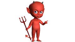 Devil boy Stock Footage