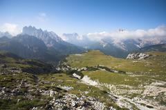 Italian Dolomites landscape - stock photo